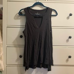 American eagle slightly distressed top